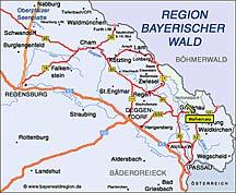 Anfahrt Hohenau Bayerischer Wald Hotel Schreiner